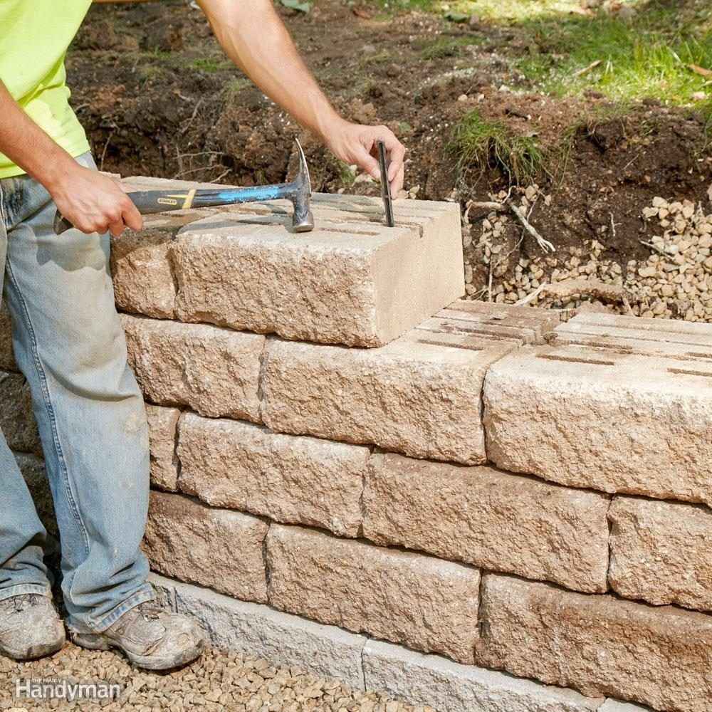 Build A Long Lasting Block Retaining Wall The Family Handyman Wiring Keep Joints Tight