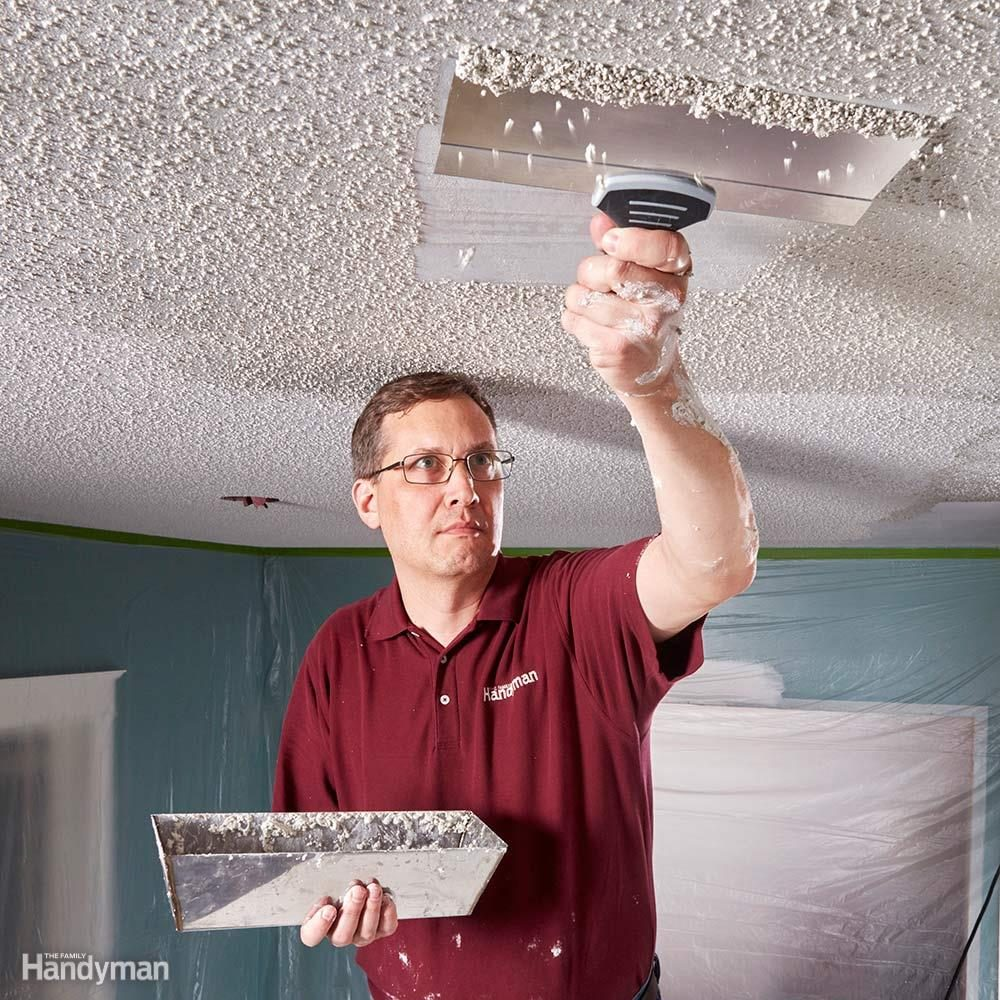 Do It Yourself Home Design: 11 Tips On How To Remove Popcorn Ceiling Faster And Easier