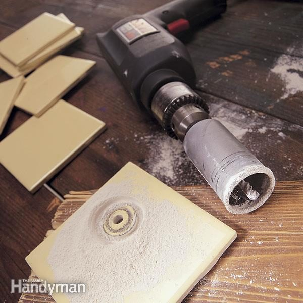 How To Cut A Hole In Tile The Family Handyman