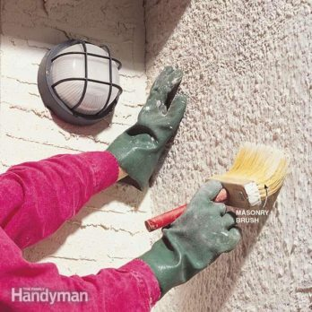 Whitewashing Stucco