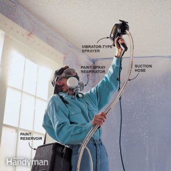 How to Paint Popcorn Ceilings
