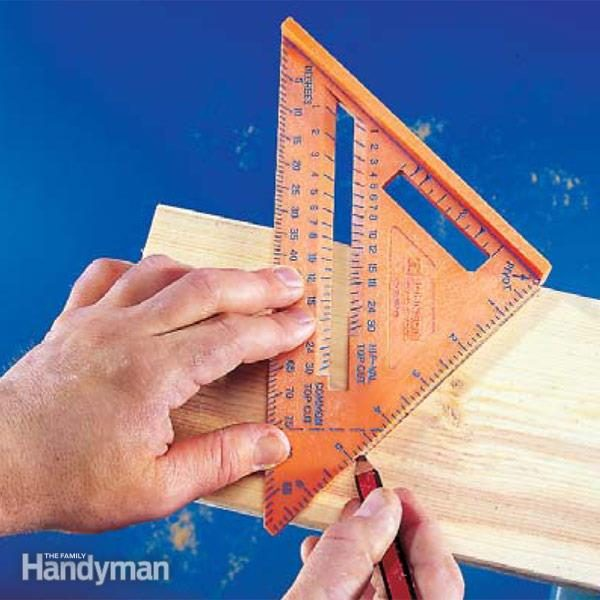 How To Use A Speed Square The Family Handyman