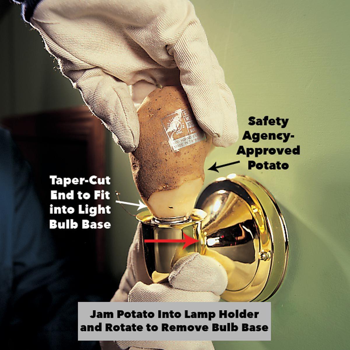 How to Remove a Broken Light Bulb | Family Handyman