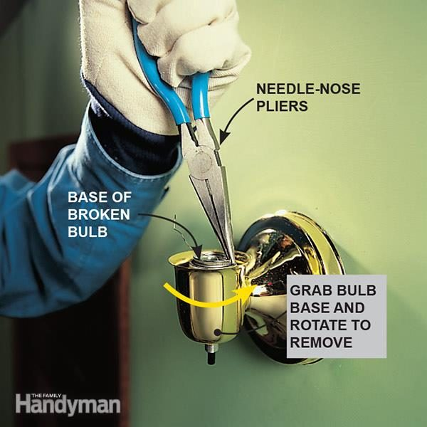 How To Remove A Broken Light Bulb The Family Handyman