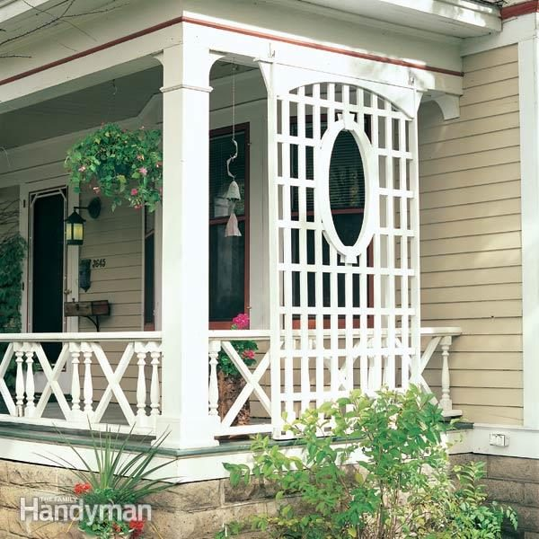 Latticework porch trellis family handyman for Outdoor lattice