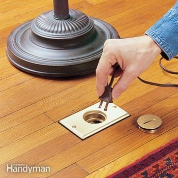 how to install a recessed floor outlet box