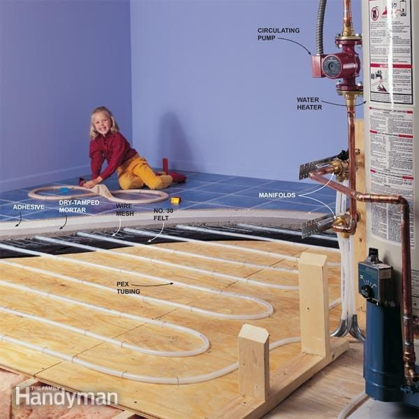 How hydronic radiant floor heating works family handyman cozy heat for new construction additions and remodels solutioingenieria Choice Image