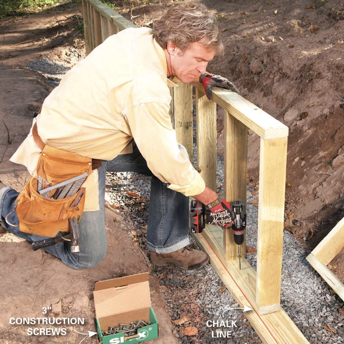 How To Build A Retaining Wall Family Handyman
