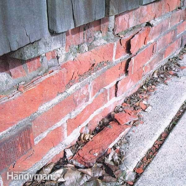 How To Replace Spalling Bricks The Family Handyman