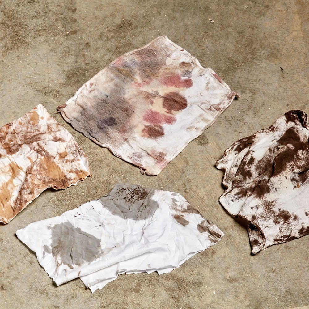 Discarded oily stain left on the floor | Construction Pro Tips