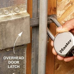 Overhead-door-latch