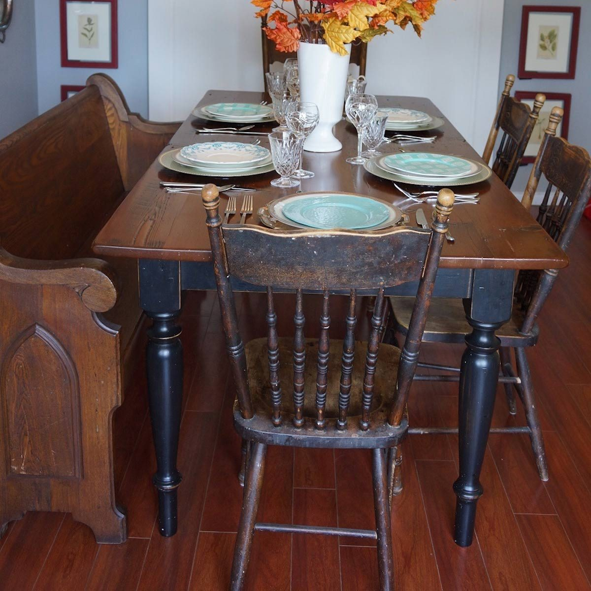 Farmhouse Look: Harvest Table