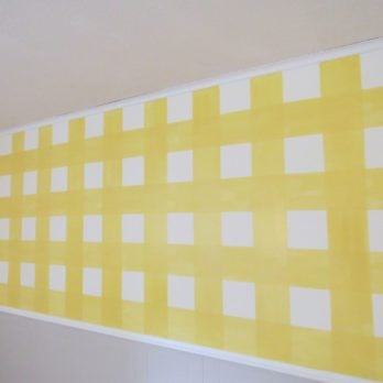 How To Paint a Gingham Wall