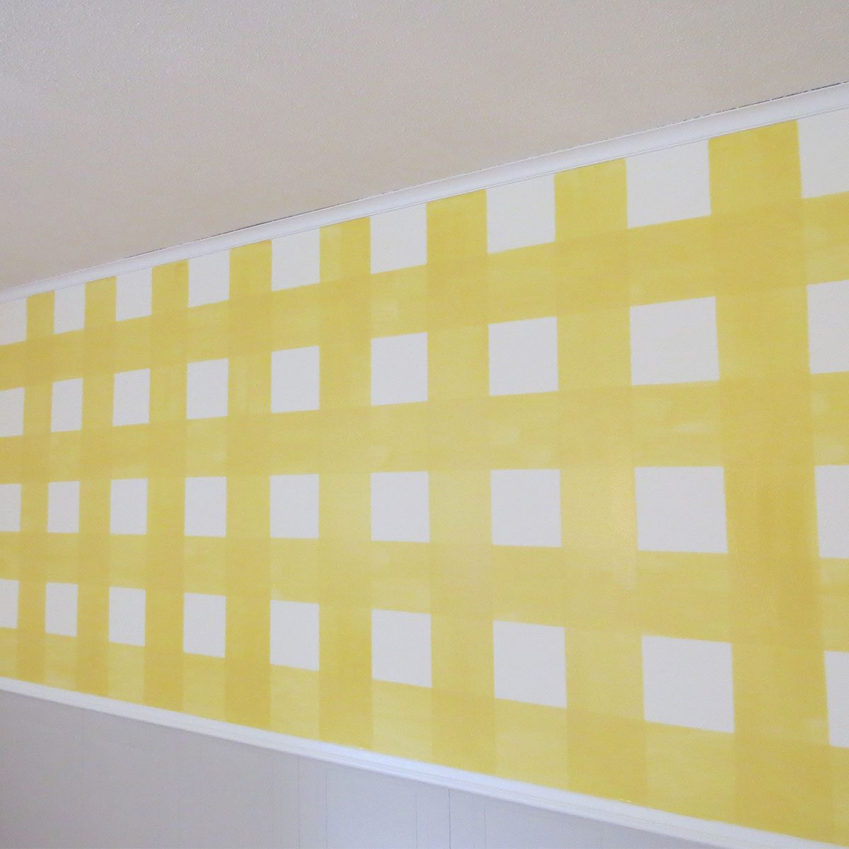 yellow gingham wall