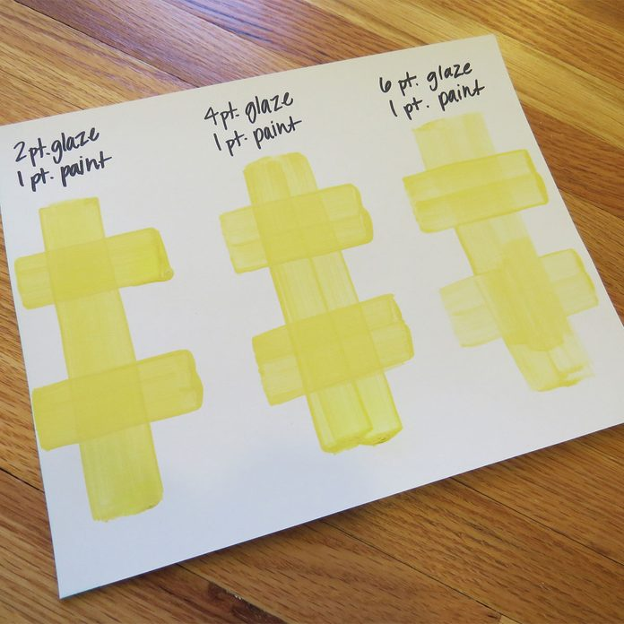gingham wall plan on paper