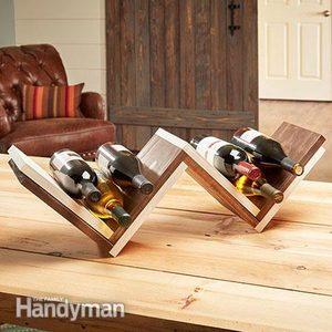 How To Build a Herringbone Wine Rack