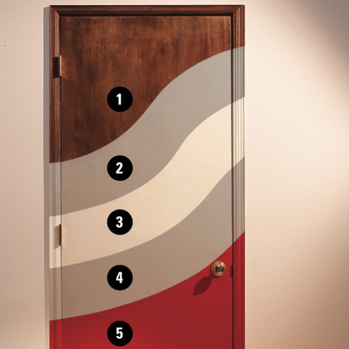 Door Refinishing Painting Varnished Doors Family Handyman