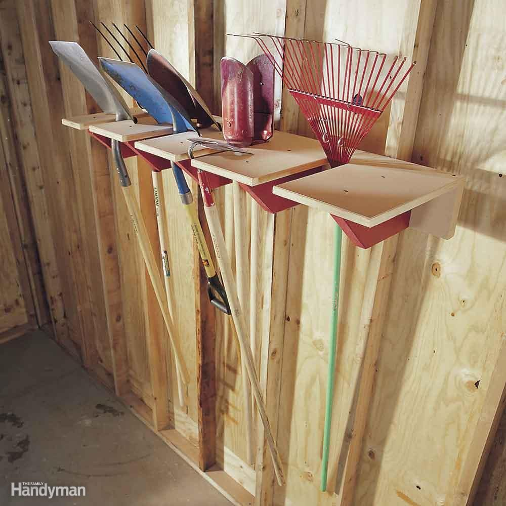 Long-Handled Tool Rack