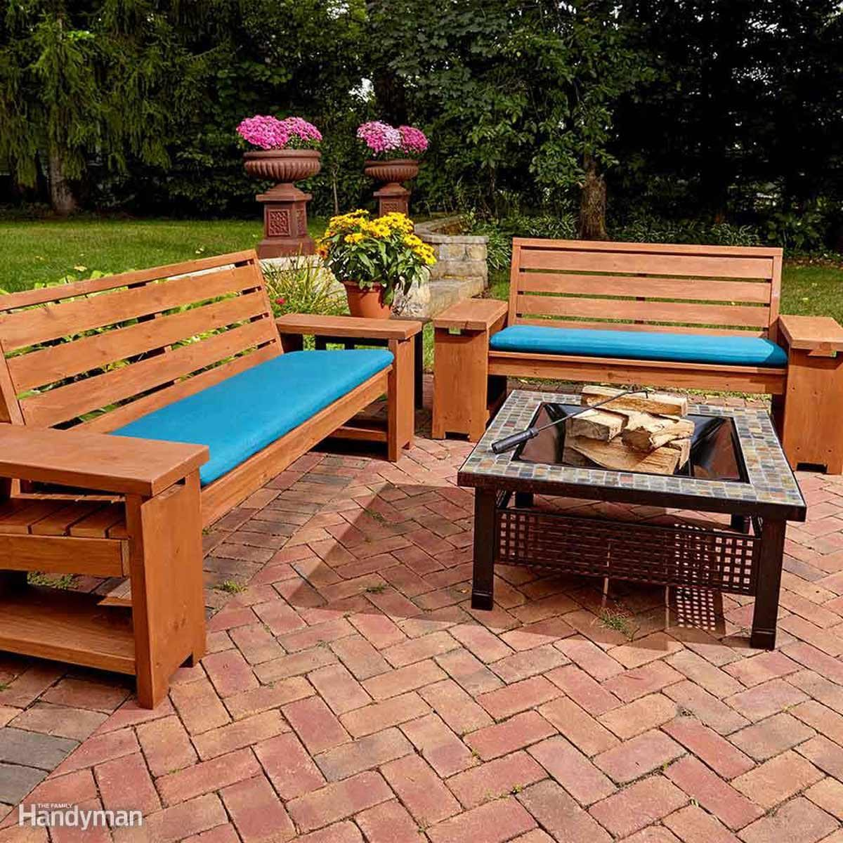 15 Awesome Plans For Diy Patio Furniture The Family Handyman
