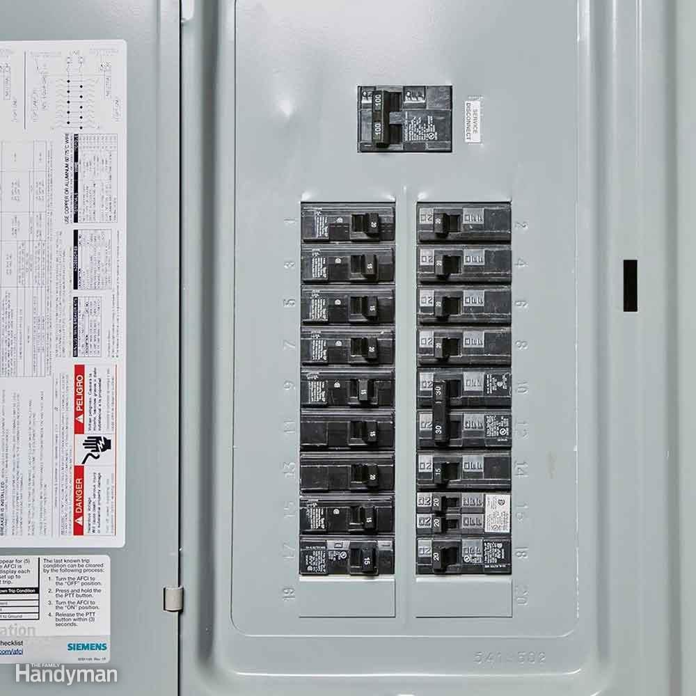 Locate the electrical panel.