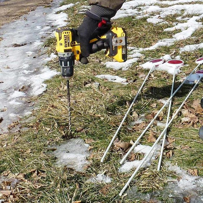 Need a hole in hard soil? Use a Drill!