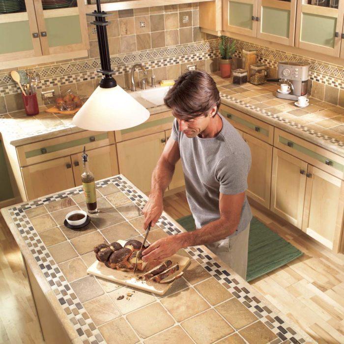 Installing Tile Countertops: Ceramic Tile Kitchen Countertops