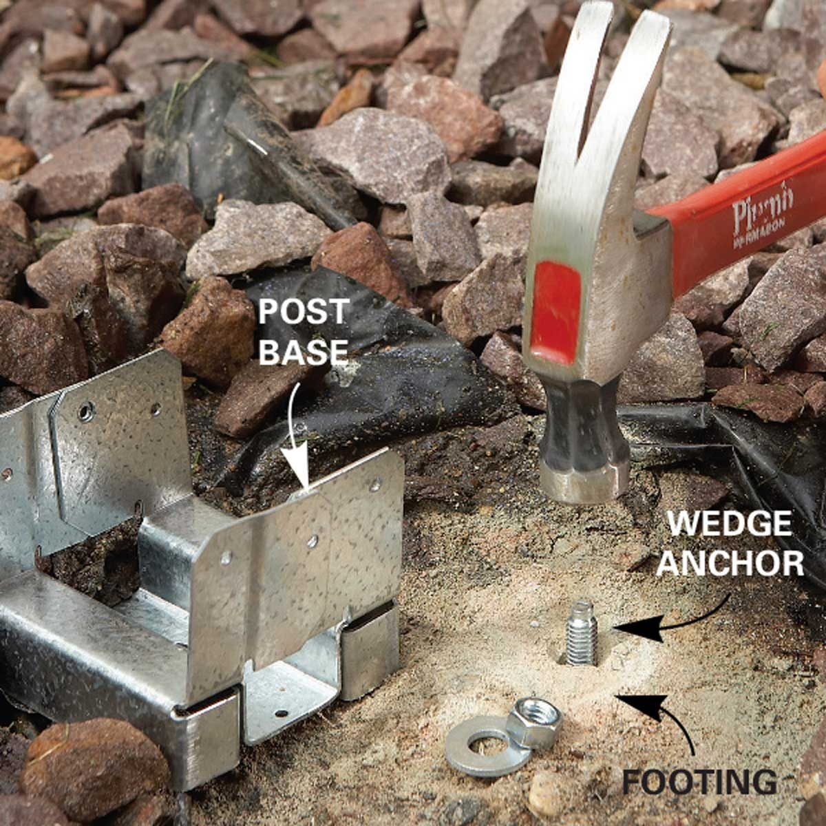 Problem 3: Rotten Posts - Install an anchor and base