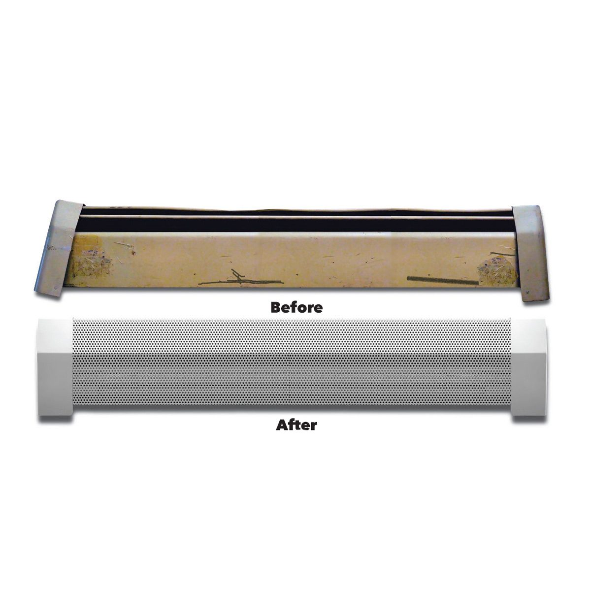 11. Replace Baseboard Heater Covers