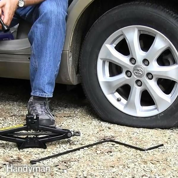 how to change a car tire the family handyman. Black Bedroom Furniture Sets. Home Design Ideas