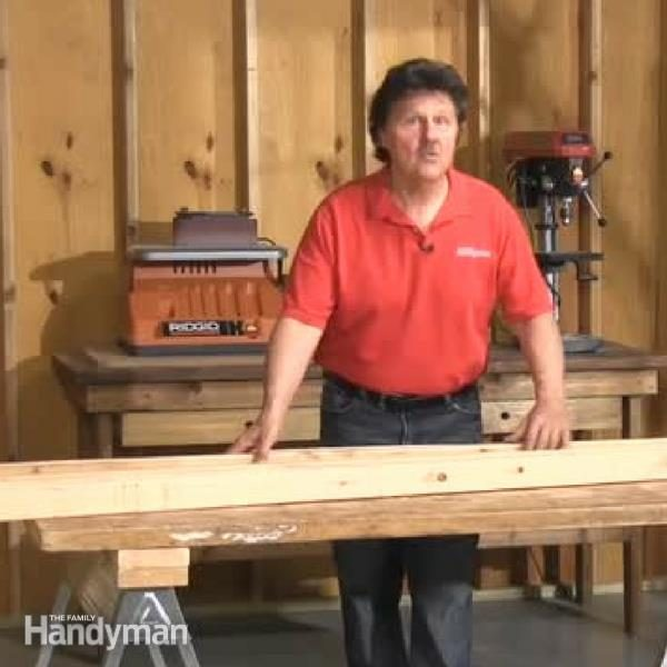 Build A Portable Sawhorse Table The Family Handyman