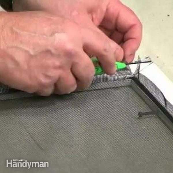 How To Replace A Door Or Window Screen The Family Handyman