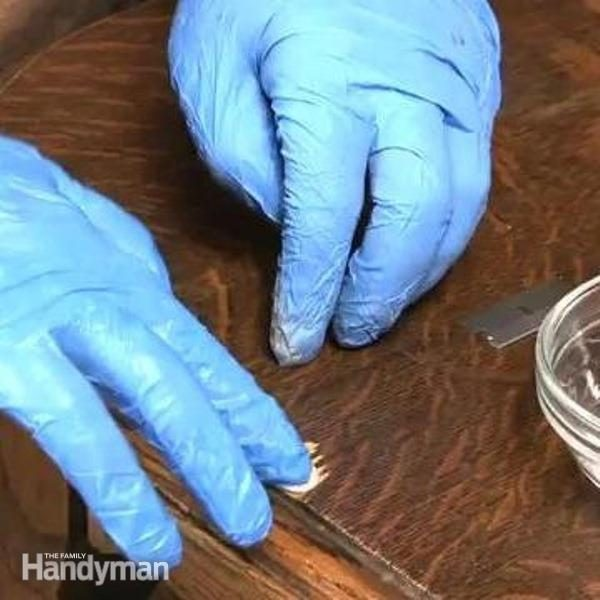 How To Patch Veneer With Quickwood The Family Handyman