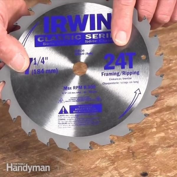 Choosing the best circular saw blade family handyman greentooth Image collections