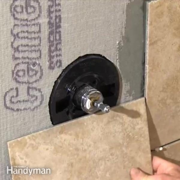 How To Cut A Large Hole In Tile The Family Handyman