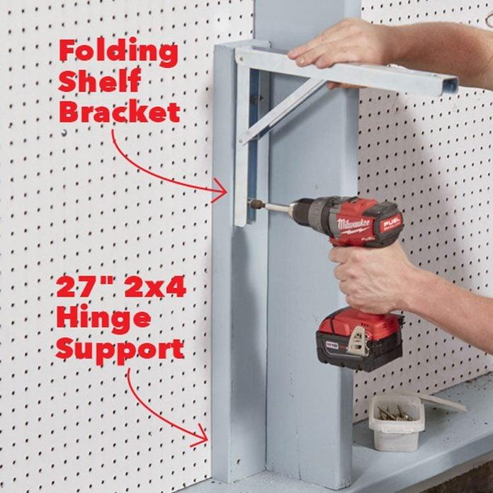garage wall organizer shelf brackets