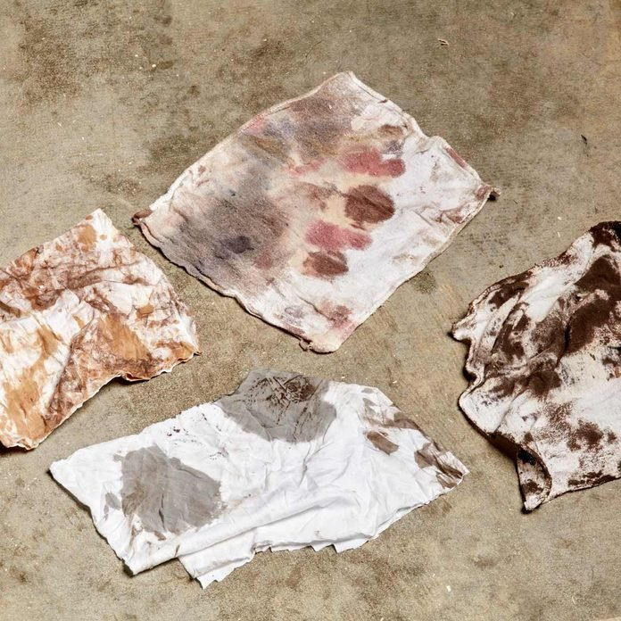 dirty paint rags