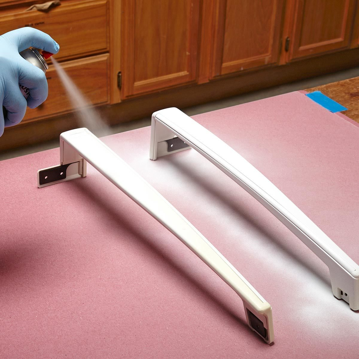 Paint appliance handles