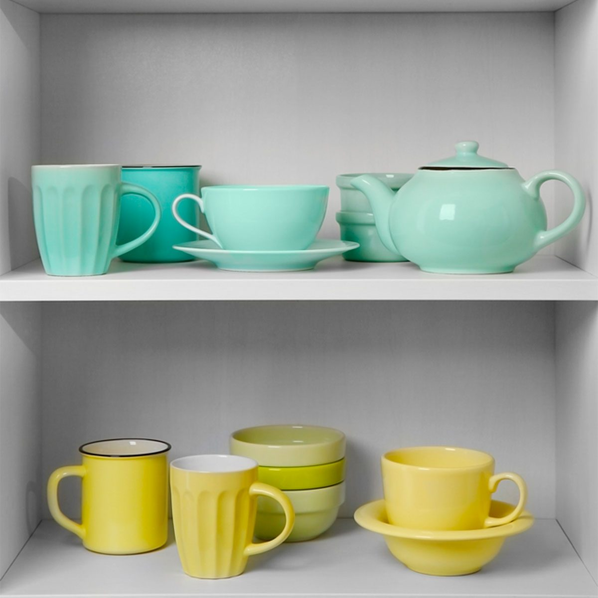 Color-Coordinate Shelves