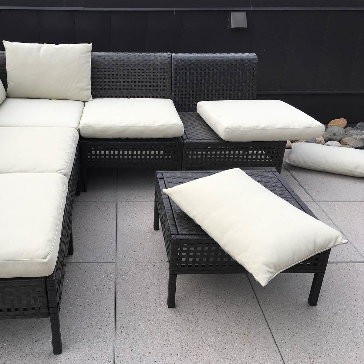 Incredible Ikea Hacks Add Ties To Outdoor Ikea Patio Cushions Inzonedesignstudio Interior Chair Design Inzonedesignstudiocom