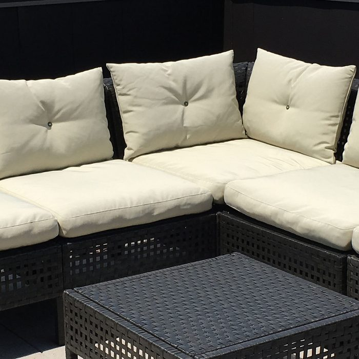 Add Ties To Outdoor Ikea Patio Cushions, How To Make Pillows For Outdoor Furniture