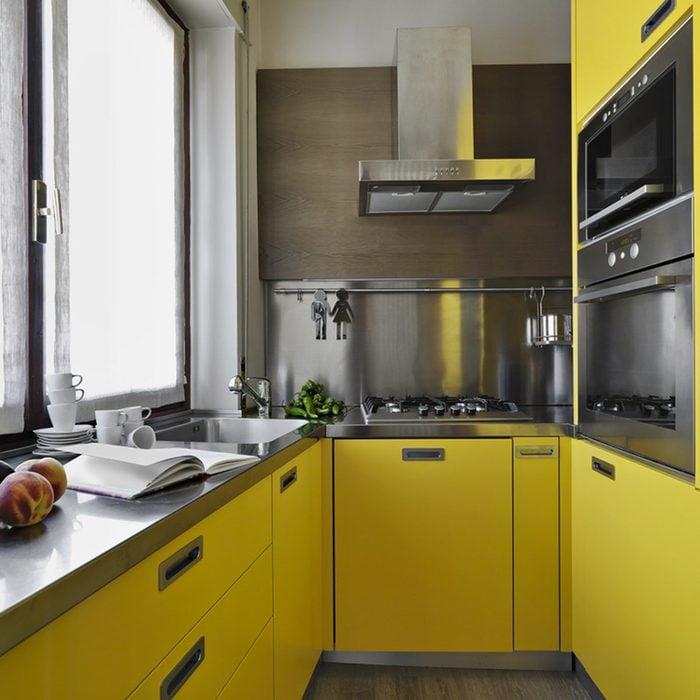sunny yellow kitchen