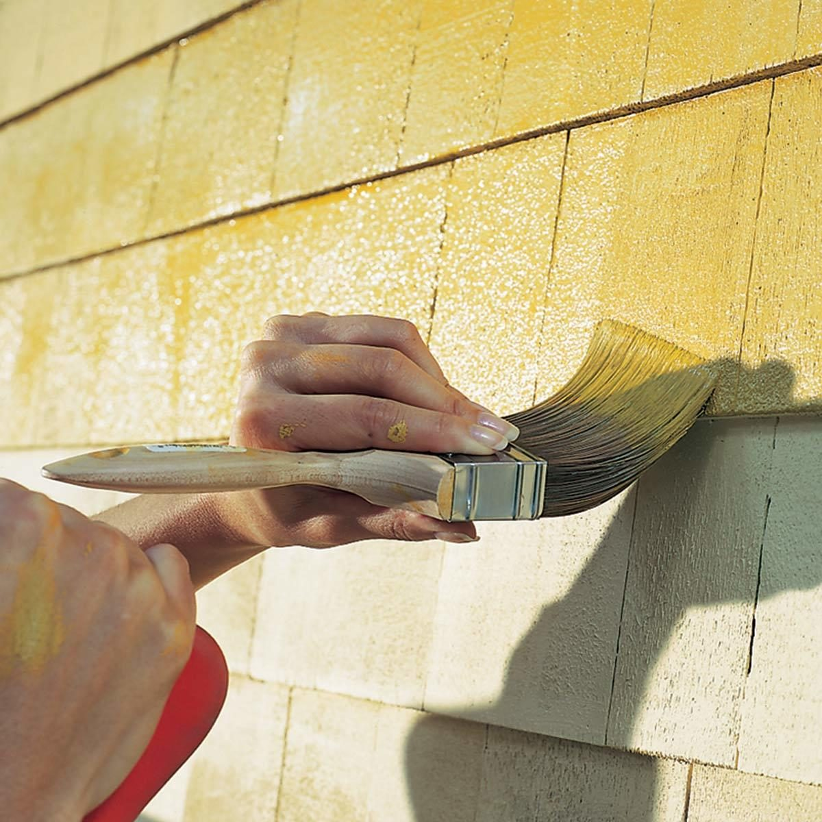 Paint shingles, stucco or brick
