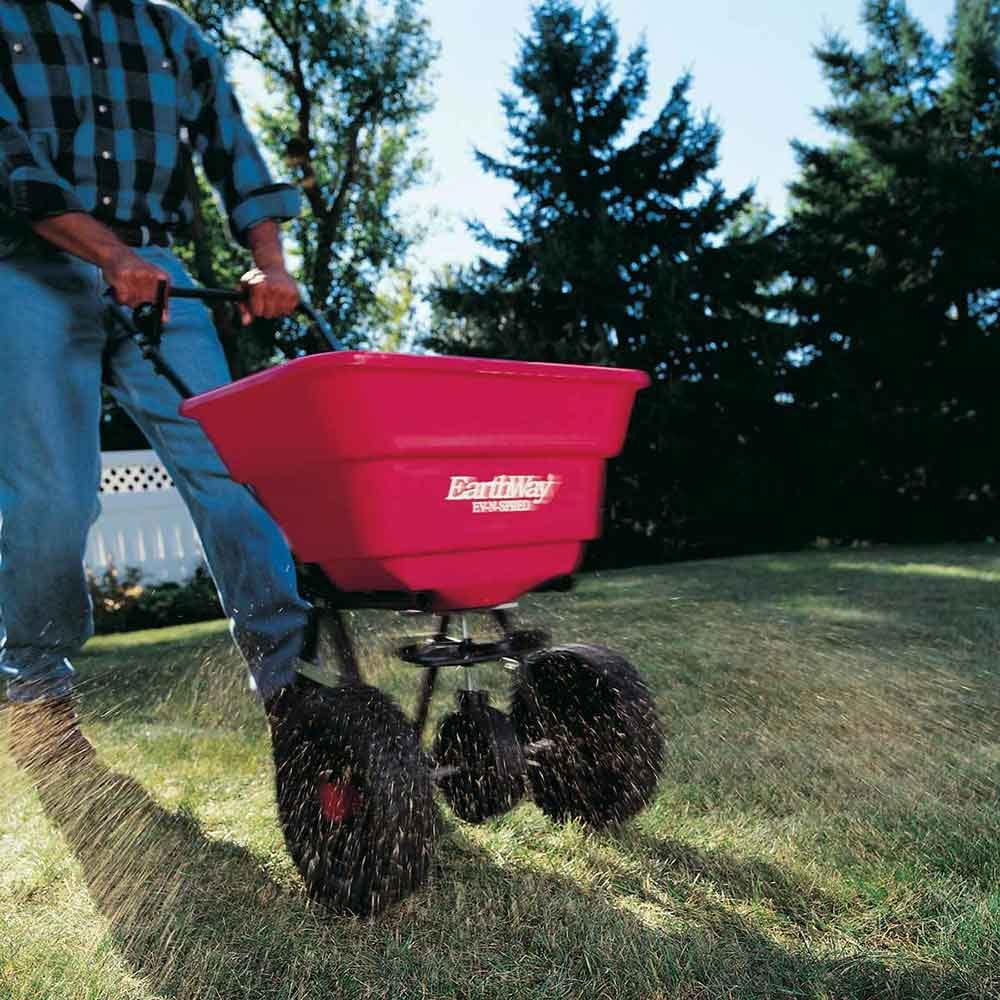 Five ways to growing greener grass simpler and cheaper: 1. Use a broadcast spreader