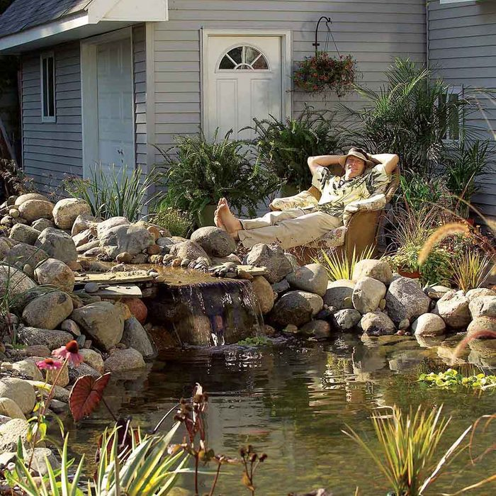 Low-Maintenance Backyard Pond
