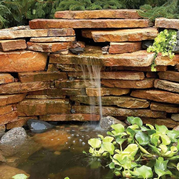 Private Pond and Waterfall