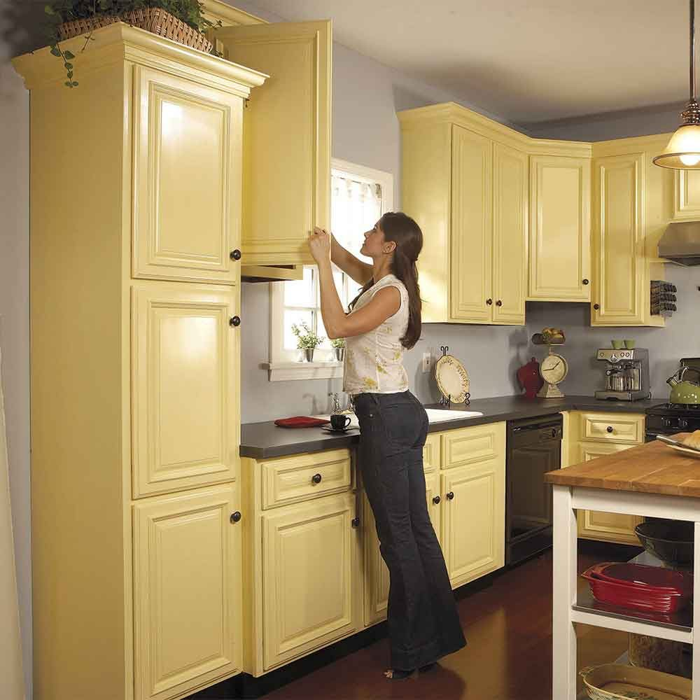 Spray Paint Your Cabinets