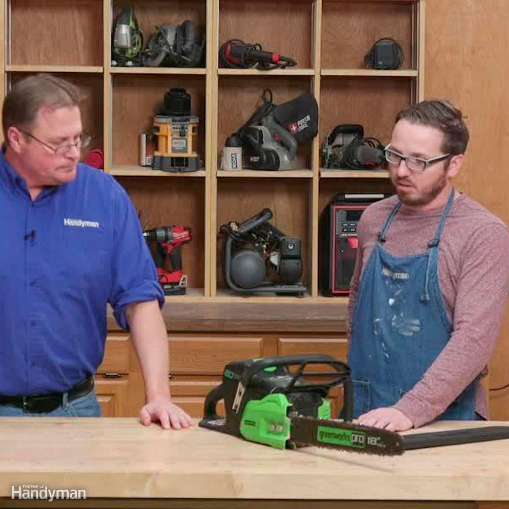 greenworks 80-volt chain saw | the family handyman