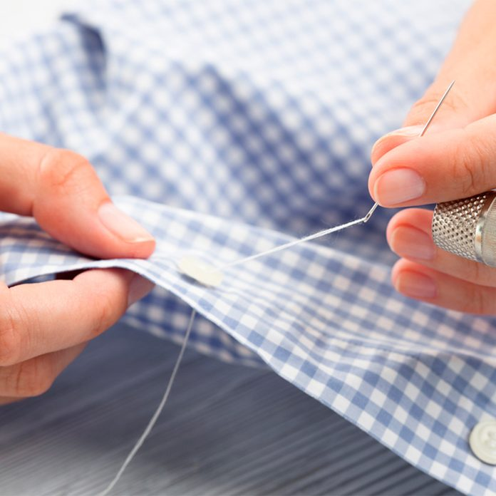 sewing with floss