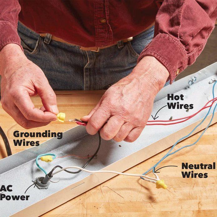 LED Light socket wires