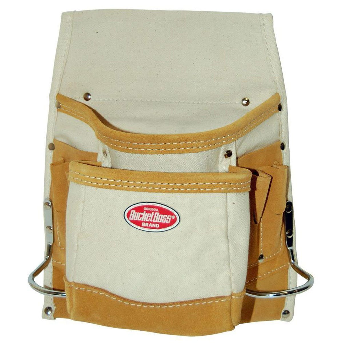 10-in. Canvas 8-pocket Nail and Tool Bag